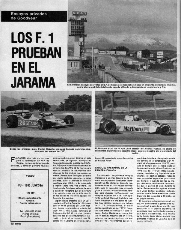 Jarama tests F1 Autopista 250379